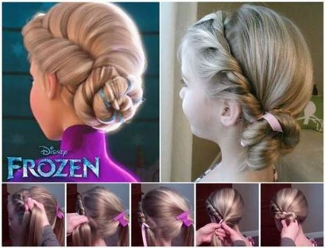 frozen olaf hairstyle diy
