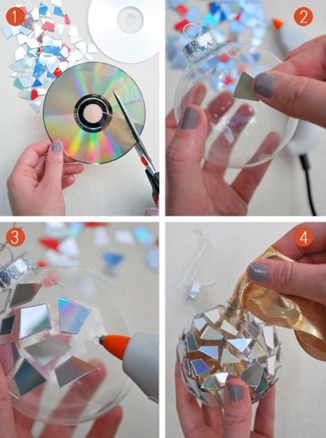 Mosaic-Ornaments-from-CDs