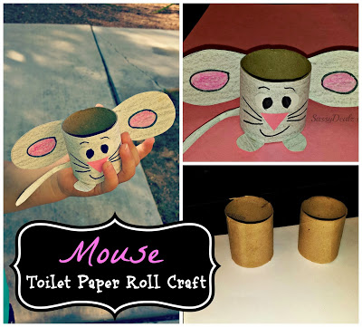 Easy mouse toilet paper roll craft for kids do it for Diy using toilet paper rolls