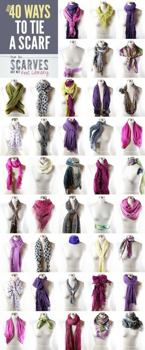 scarf style fashion diy